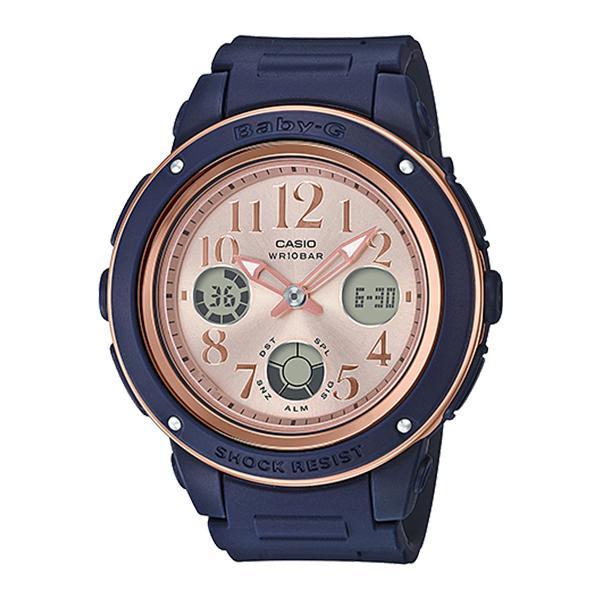 623eaaf05f87 Casio Baby-G Popular Wide Face Navy Blue Resin Strap Watch BGA150PG-2B1 BGA