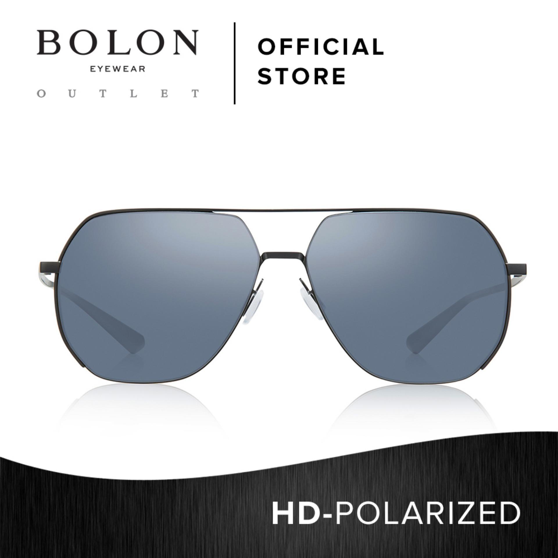 97626782dd BOLON Eyewear Men Polarized Aviator Sunglasses Brandy BL7021 Black