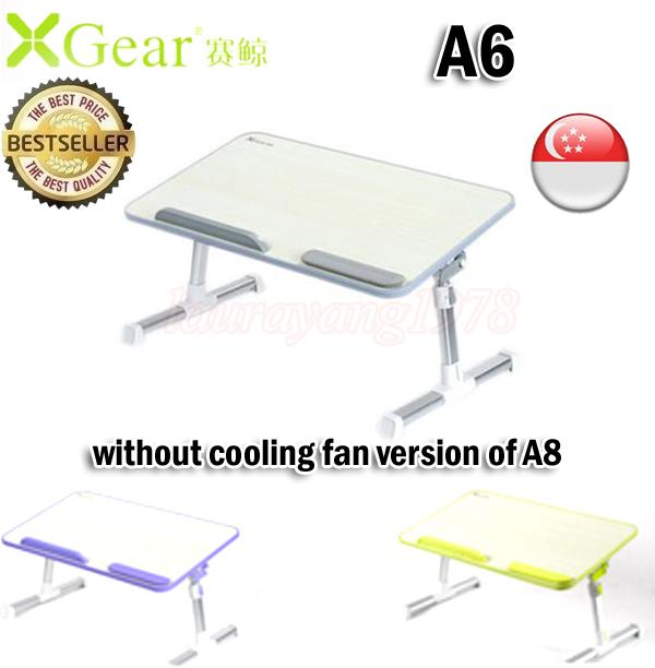 Xgear A6 (520 x 300 x 9mm) Foldable Multi-Purpose Adjustable Height Laptop Table Desk Grey