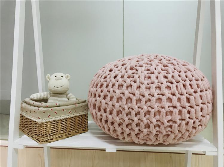 Fabaceous beans knit round cushion quan qing