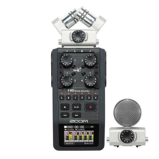 Zoom H6 Handy Recorder With Interchangeable Microphone System Online