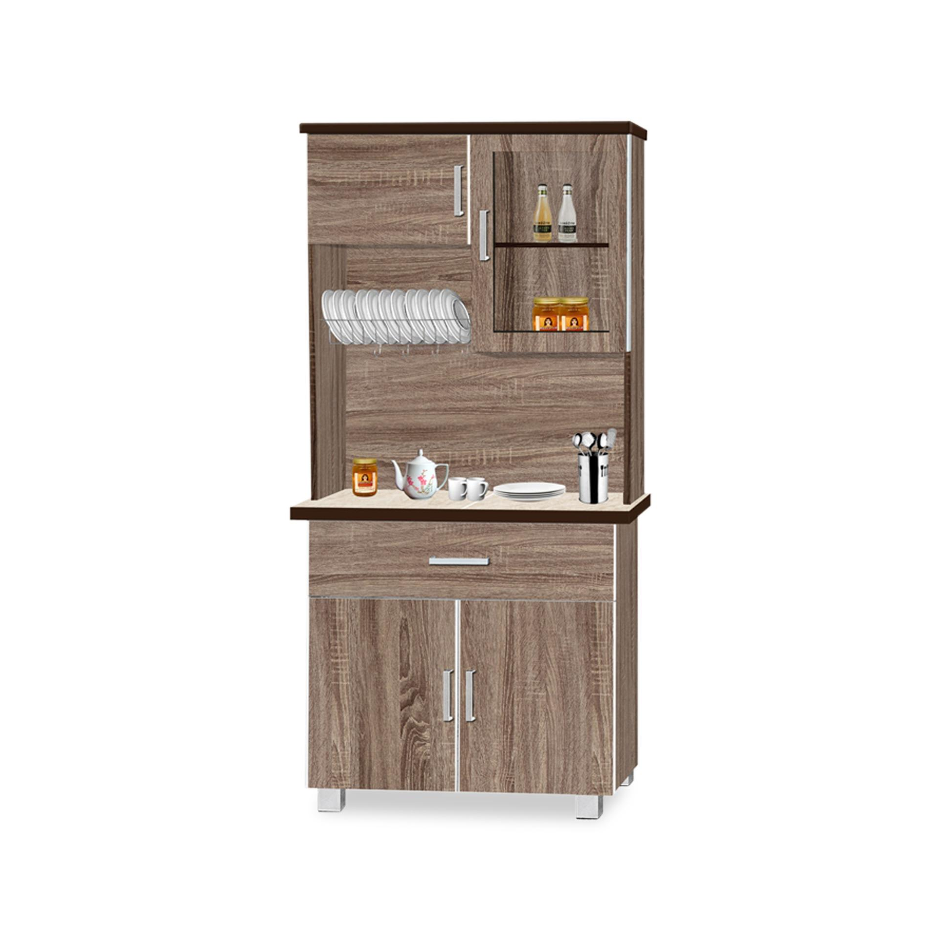 Joshua Dining Cabinet With Top (FREE DELIVERY)(FREE ASSEMBLY)