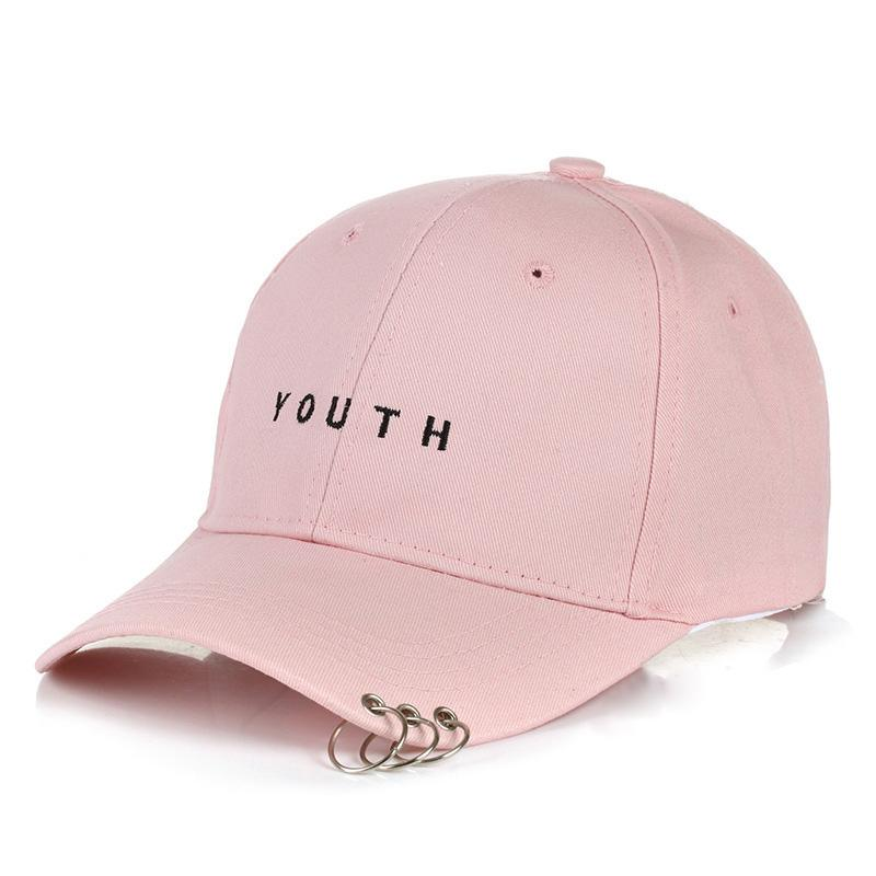 39e4882b50897 Women Men Letter Printed Baseball Caps YOUTH Snapback Caps Hip Pop Flat Hats  Metal Ring Caps