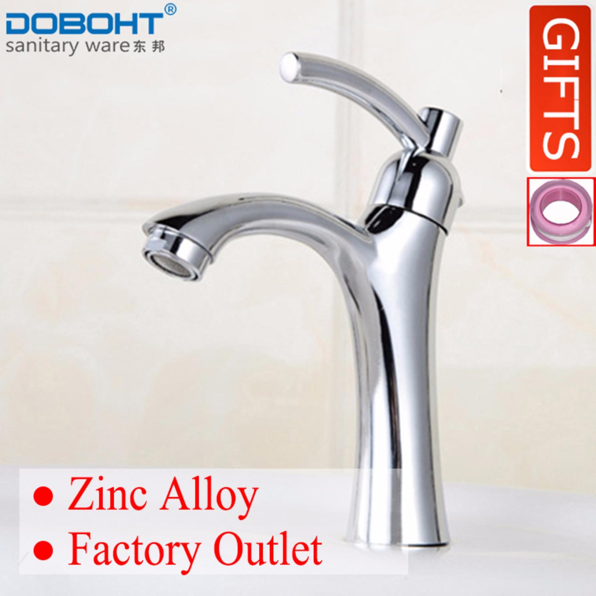 Review Doboht Zinc Alloy Bathroom Sink Basin Single Cold Tap Faucet Chrome Export Doboht On China