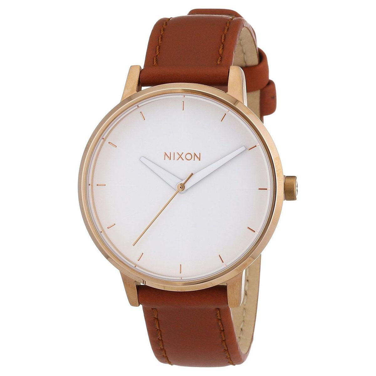 Where To Shop For Nixon Nixon Kensington Brown Stainless Steel Case Leather Strap Ladies A1081045