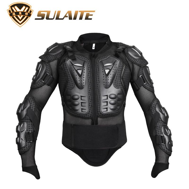 Coromose Men Motorbike Motorcross Racing Protective Mesh Jacket Armor Full Body Spine Chest Shoulder Arm Protector Gear Specification:M