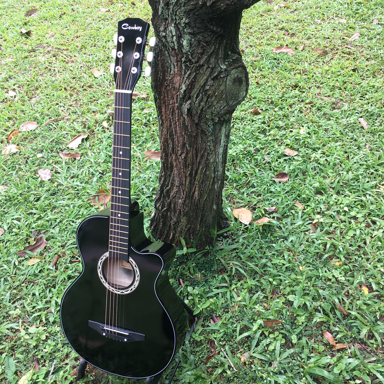 38 Acoustic Guitar Black Colour Singapore
