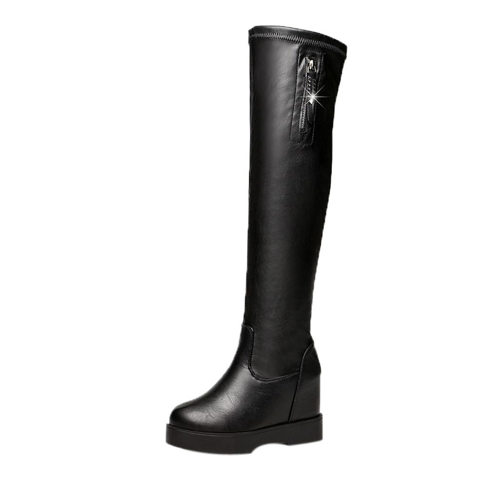 Teresastore Over The Knee Boots Women Shoes Winter Boots Warm High Heels Boots Long Shoes By Teresastore.