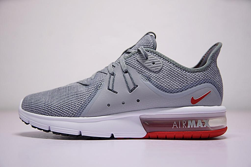 ff90568e ... shop nike air max sequent 3 cool grey red wolf grey 921694 060 running  shoes cb83c