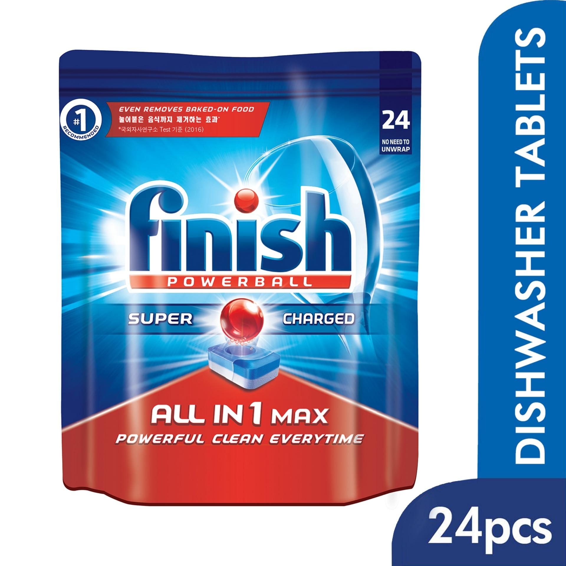 Compare Prices For Finish All In One Max Super Charged Powerball Dishwasher Tablets 24 Tablets Dishwashing Cleaner