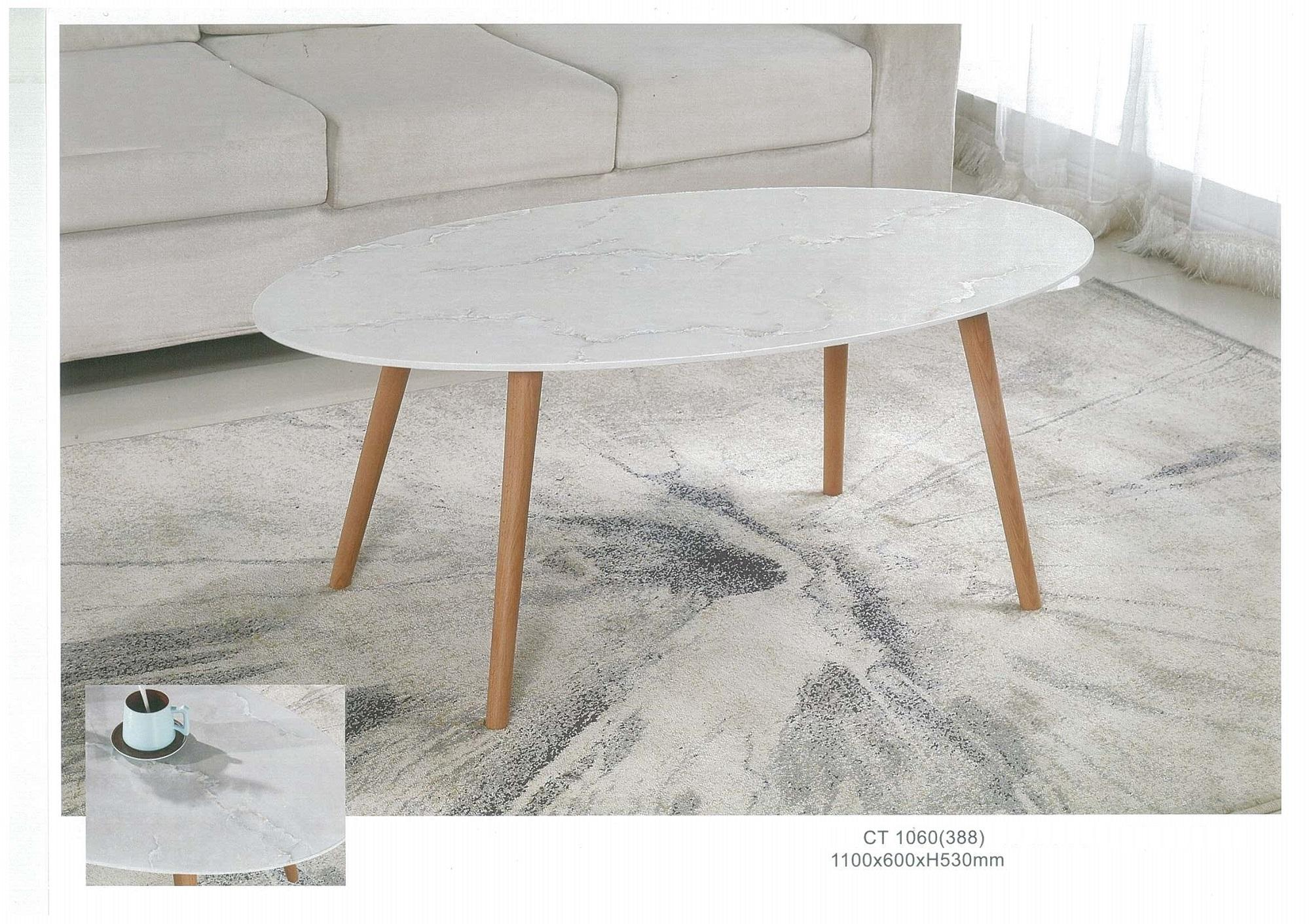 Coffee Table with Marble Looking Top