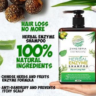 Sale Herbal Enzyme Shampoo For Dry Or Long Hair Online On Singapore