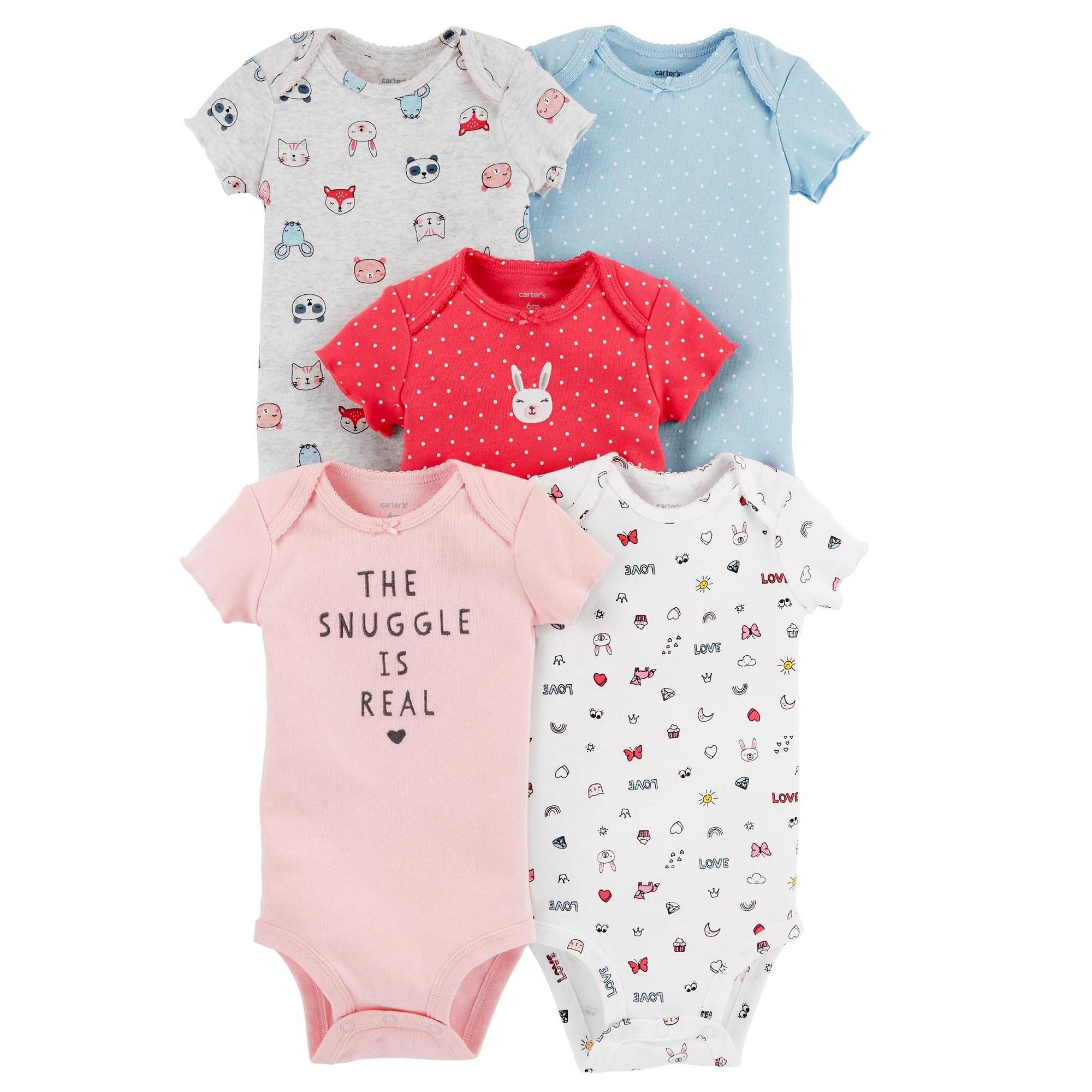 Buy Carter Baby Clothing Accessories Lazada Jumper Carters 5 In 1 Cagl191 Pack Short Sleeve Original Bodysuits Bunny