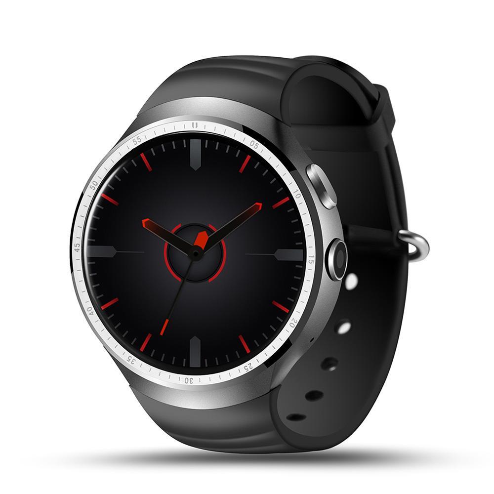 LES1 Jam Tangan Pintar Android 5.1 OS MTK6580 Quad Core 1 GB + 16 GB Bluetooth 3G Wifi Reloj Inteligente Arloji Pintar Android Jam Tangan
