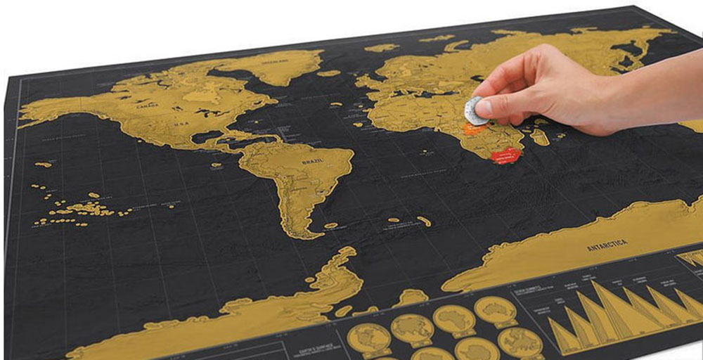 Deluxe Scratch Map Travelling ...