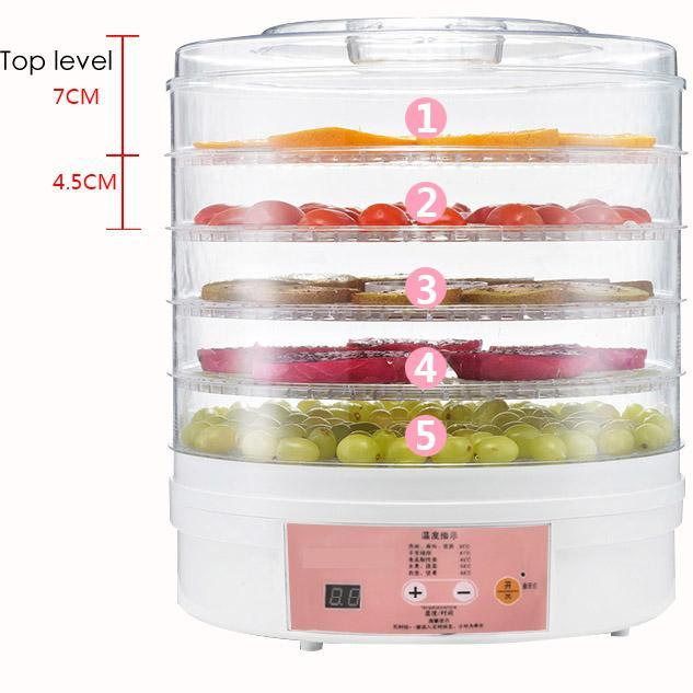 Discount Miuvo Food Dehydrator With 5 Level Drying Racks Digital Timer And Temperature Control Lcd Display Local Sg Stocks