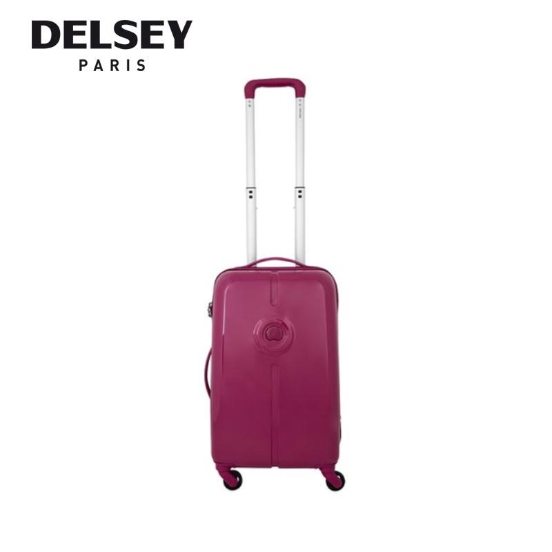 Delsey Flaneur Customisation 55Cm 4 Wheel Cabin Trolley Hard Case Blue Pink Promo Code