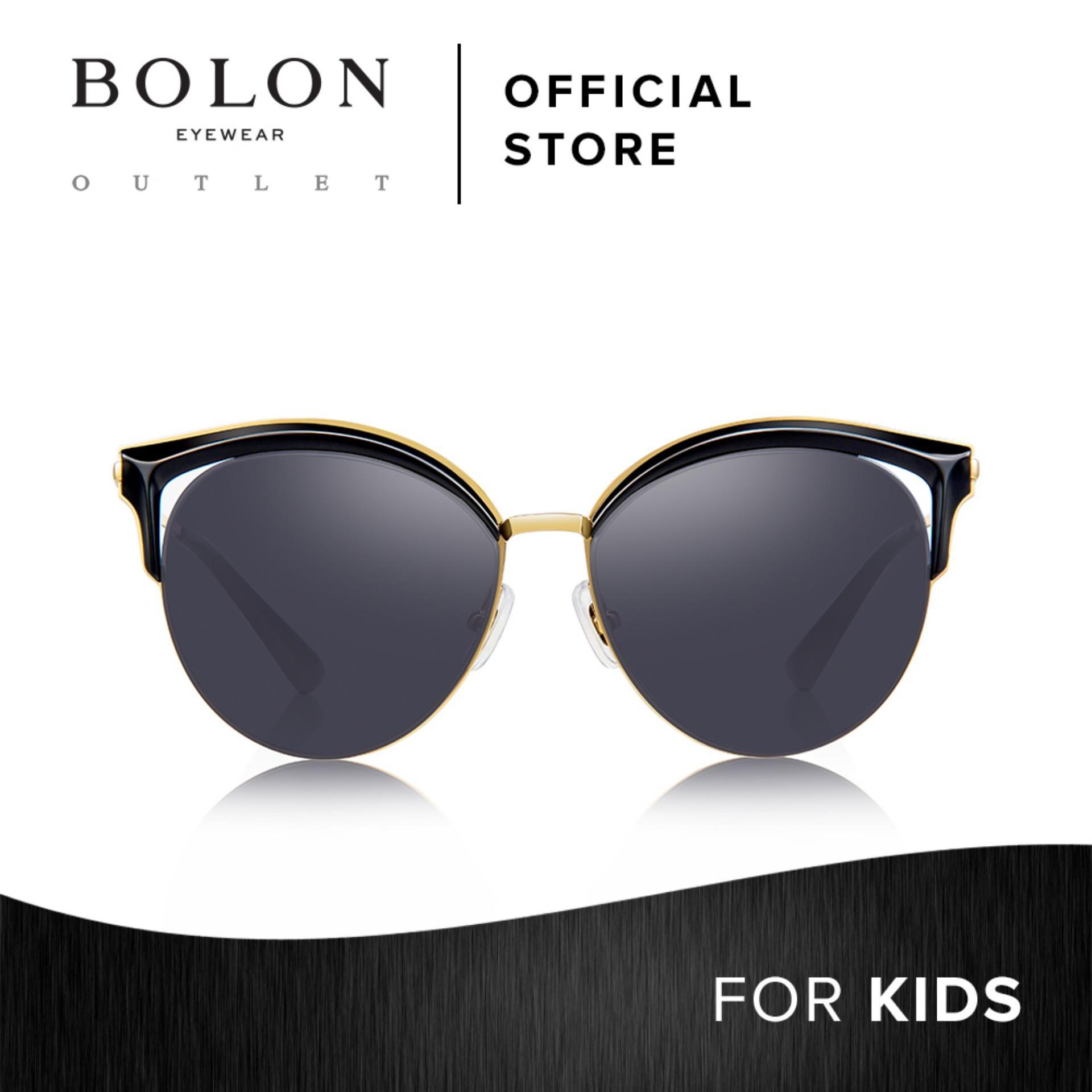 4163acfd3aa BOLON Eyewear Kids Cat Eye Sunglasses Petit Anne BK6006 Black Gold