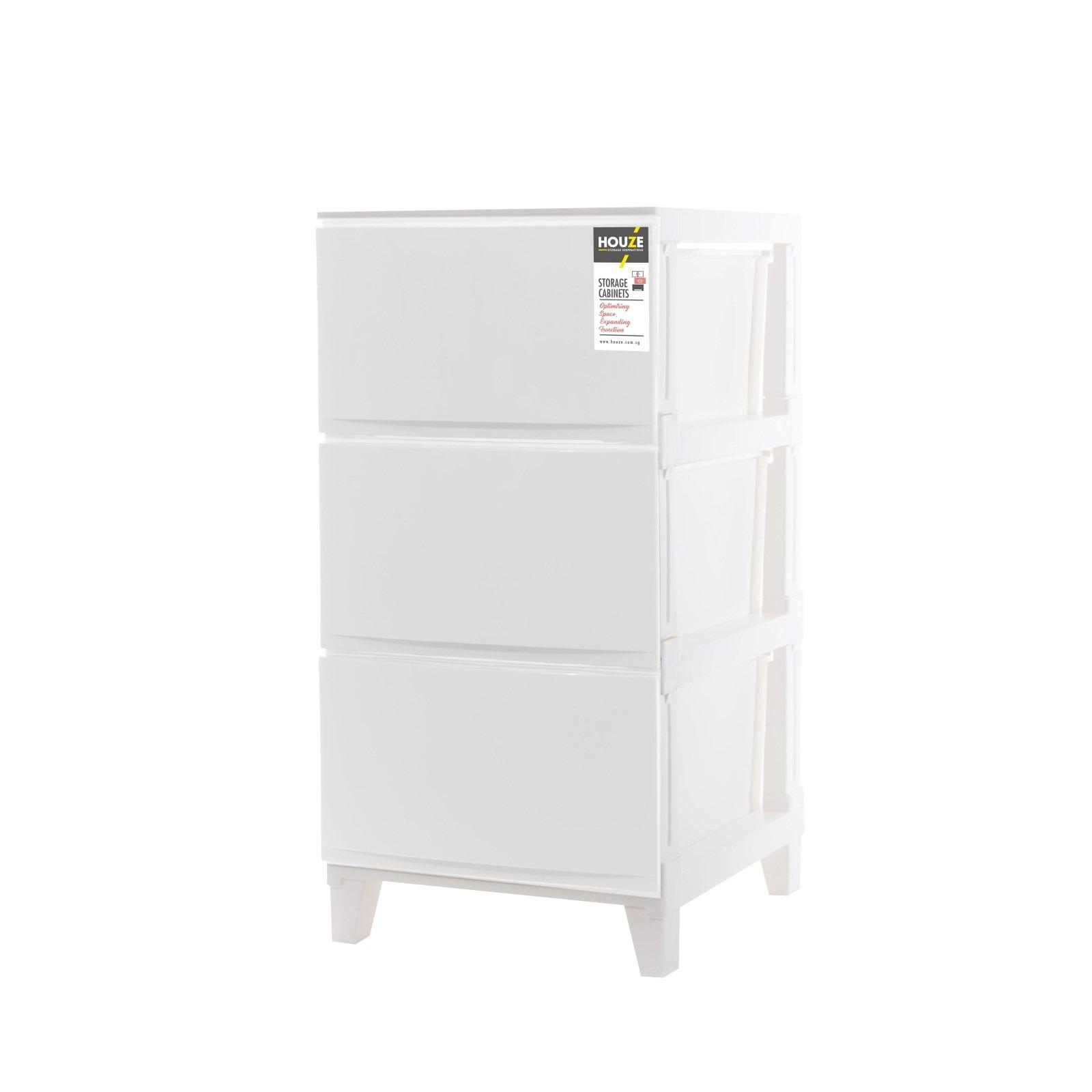 Sale Houze 3 Tier Knock Down Compact Cabinet On Singapore