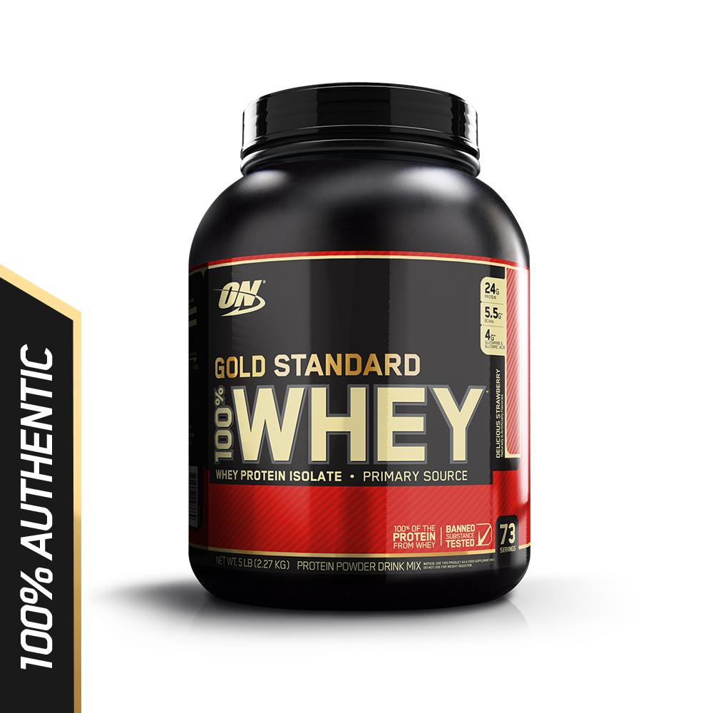 Review Optimum Nutrition Gold Standard Whey 5 Lbs Delicious Strawberry Optimum Nutrition