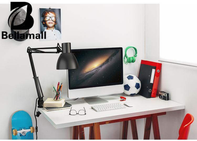 Bellamall Swing Arm Clamp Table Desk Lamp Light Office Studio Lighting Fixture Black Intl On China