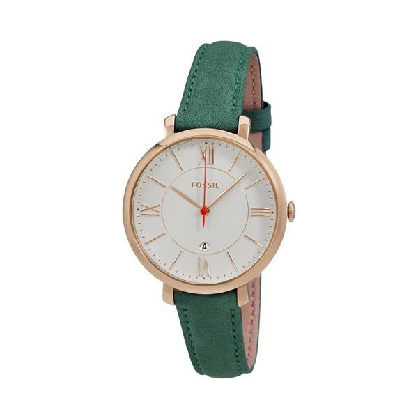 Price Comparisons Of Fossil Jacqueline Green Leather Watch Es4149