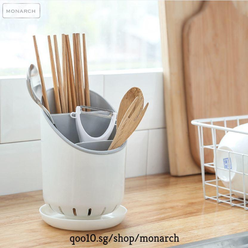 Round Cutlery Holder★Kitchen Utensils Drainer Rack★Multi Purpose Knife Chopsticks Fork Price