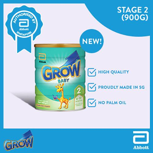 Sale Grow Baby Stage 2 Milk Formula 900G Grow