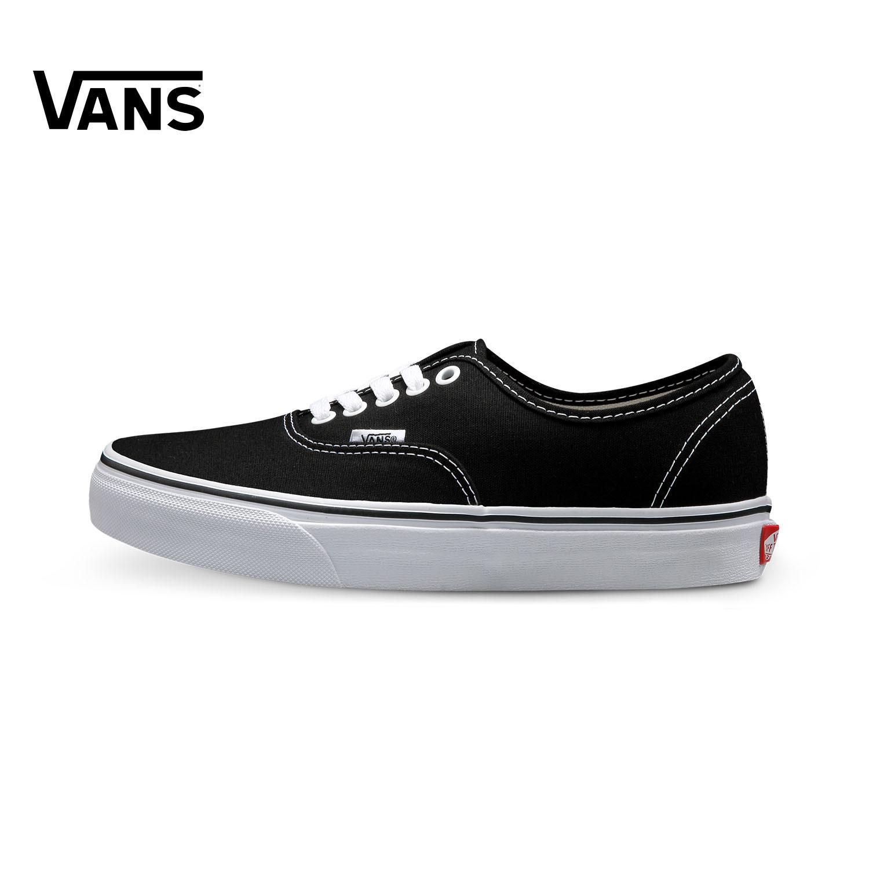 Vans Vn 0ee3blk Model Klasik Sepatu Sepatu Pria Hitam