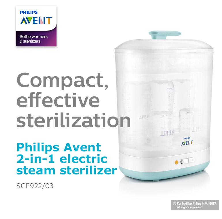 Product details of PHILIPS AVENT 2-in-1 Electric Steam Sterilizer