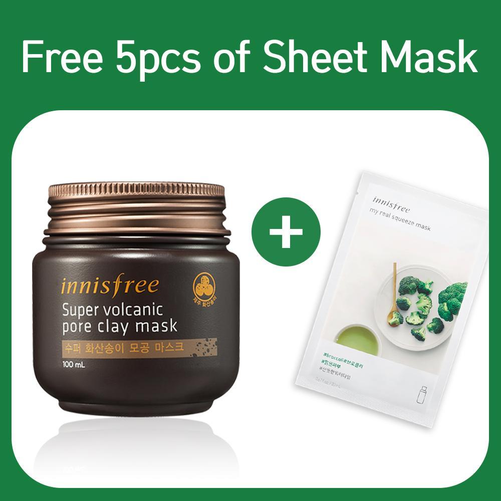 Price Innisfree Super Volcanic Pore Clay Mask 100Ml On Singapore