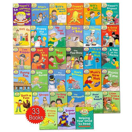 Oxford Reading Tree 33 Books- Read With Biff, Chip And Kipper Collection Levels 1-3 By Ichiban Kids.