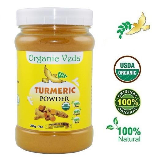 Best Price Organic Turmeric Powder 200Grams ★ Usda Certified Organic ★ 100 Pure And Raw Organic Herbal Super Food Supplement Non Gmo Gluten Free Us Fda Registered Facility All Natural