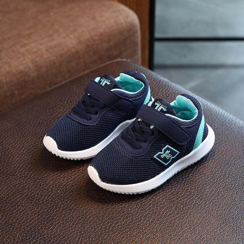 2018 model baru musim semi anak laki-laki jala sepatu model sepatu olahraga anak prempuan
