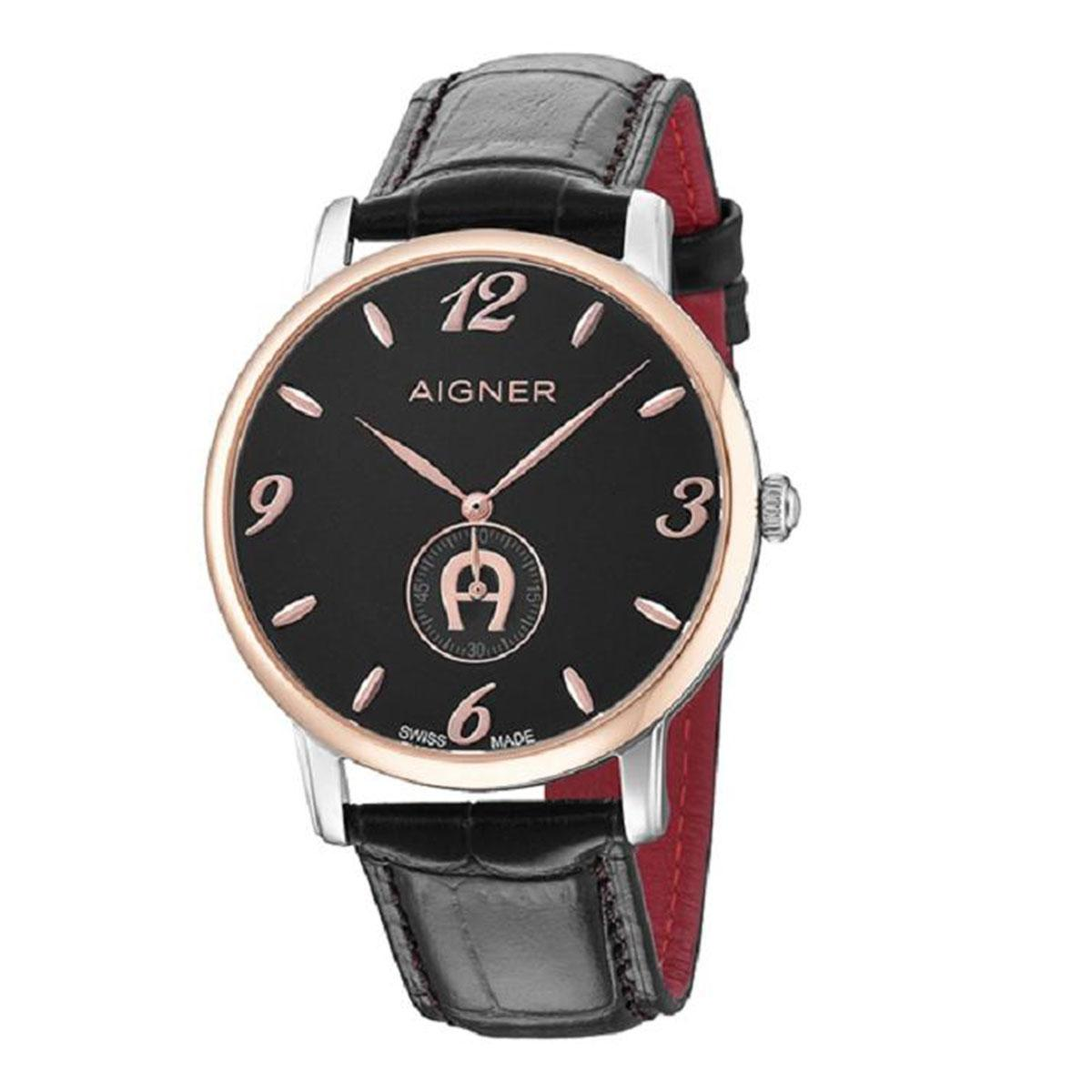 Aigner Watch For Women Watches Price In Malaysia Best Viareggio Black Stainless Steel Case Leather Strap Ladies A04112