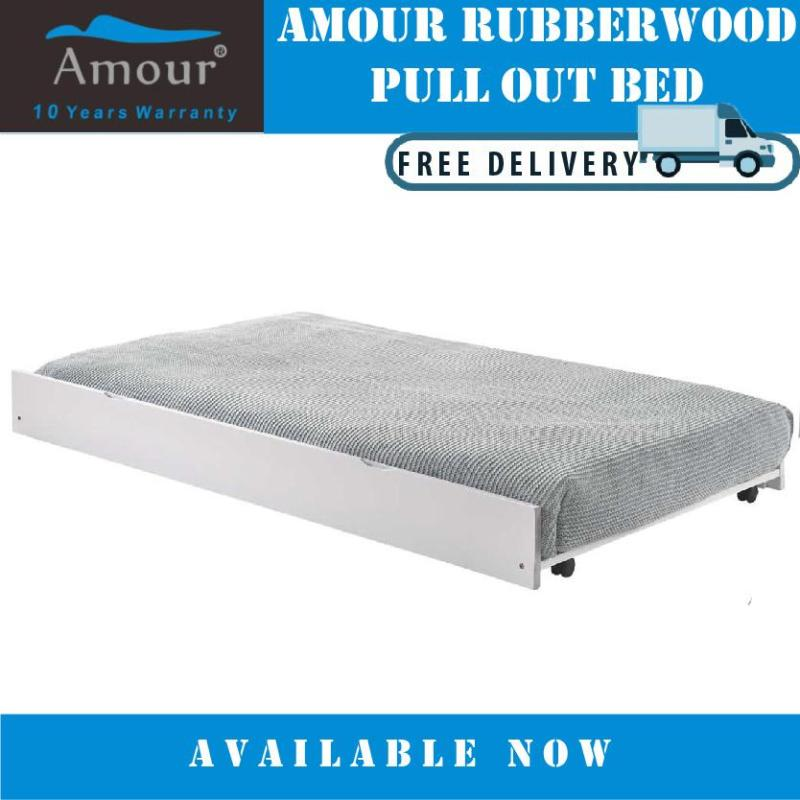 AMOUR BRAND SINGLE SIZE PULL OUT BED/ TRUNDLE BED / GUEST BED (FREE DELIVERY)