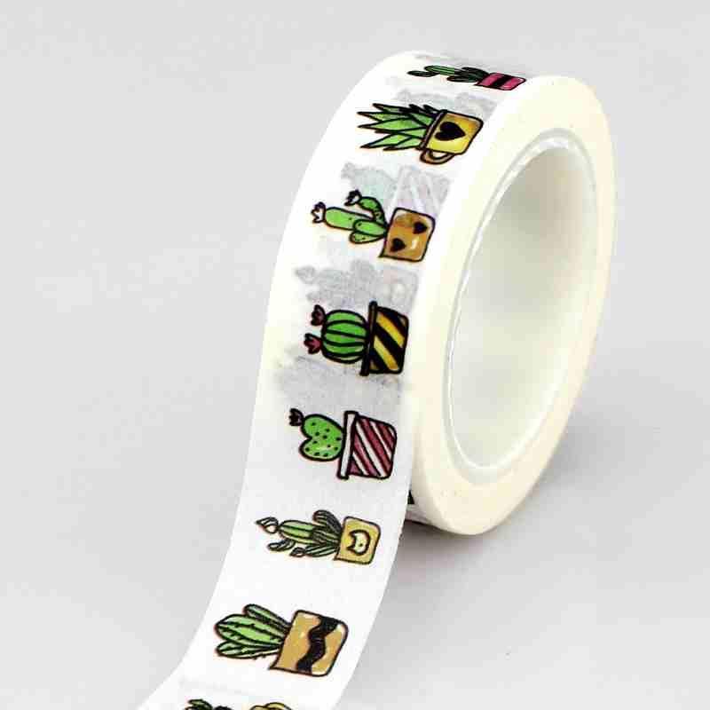 Mua 10M Roll Succulent Cactus Washi Tape Scrapbooking Tools Cute Cinta Adhesiva Decorativa Masking Tape Japanese Office Stationery - intl