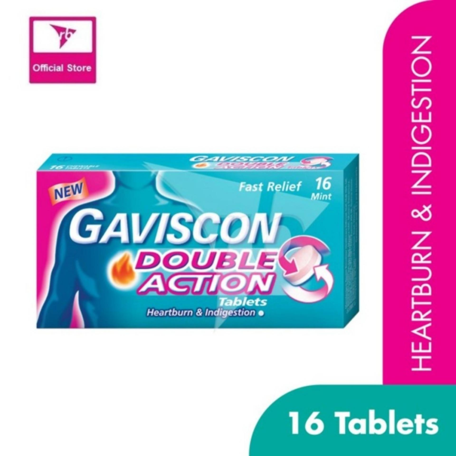 Buy Gaviscon Double Action Chewable Tablets 250Mg 16S For Heartburn And Indigestion