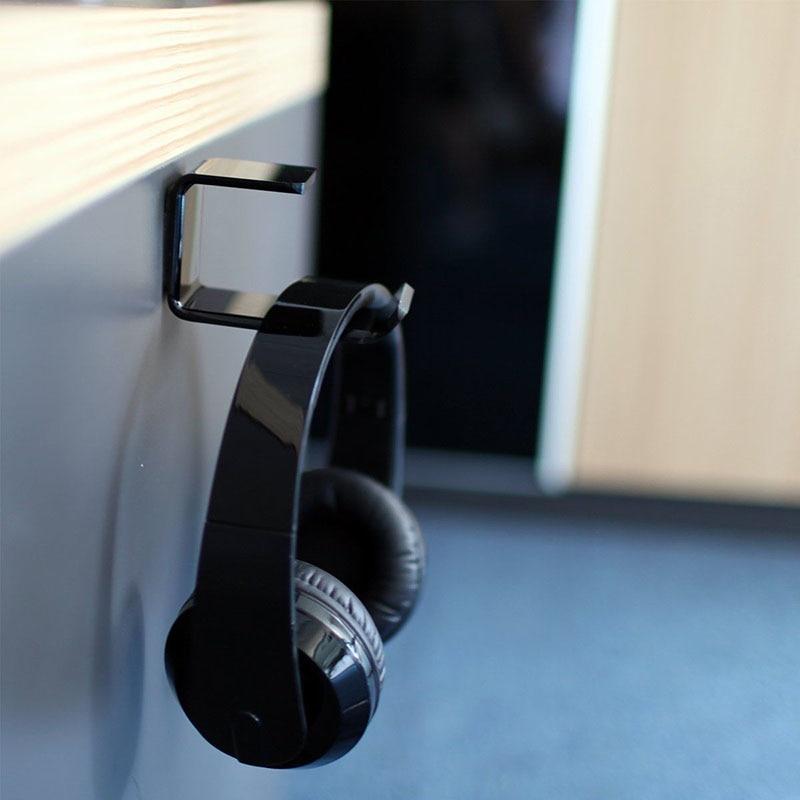 Durable Headphone Headset Holder Hanger Earphone WallDesk Display Stand Bracket Hanger Headphone Accessories (7)