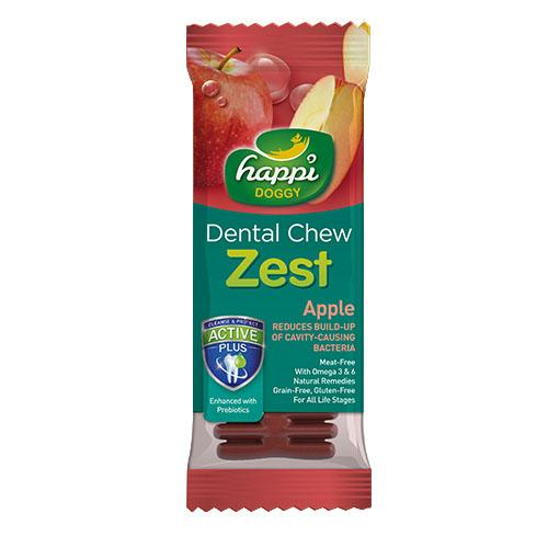 "50 X Happi Doggy Dental Chew Zest Apple 4"" 25g By Theonepet."