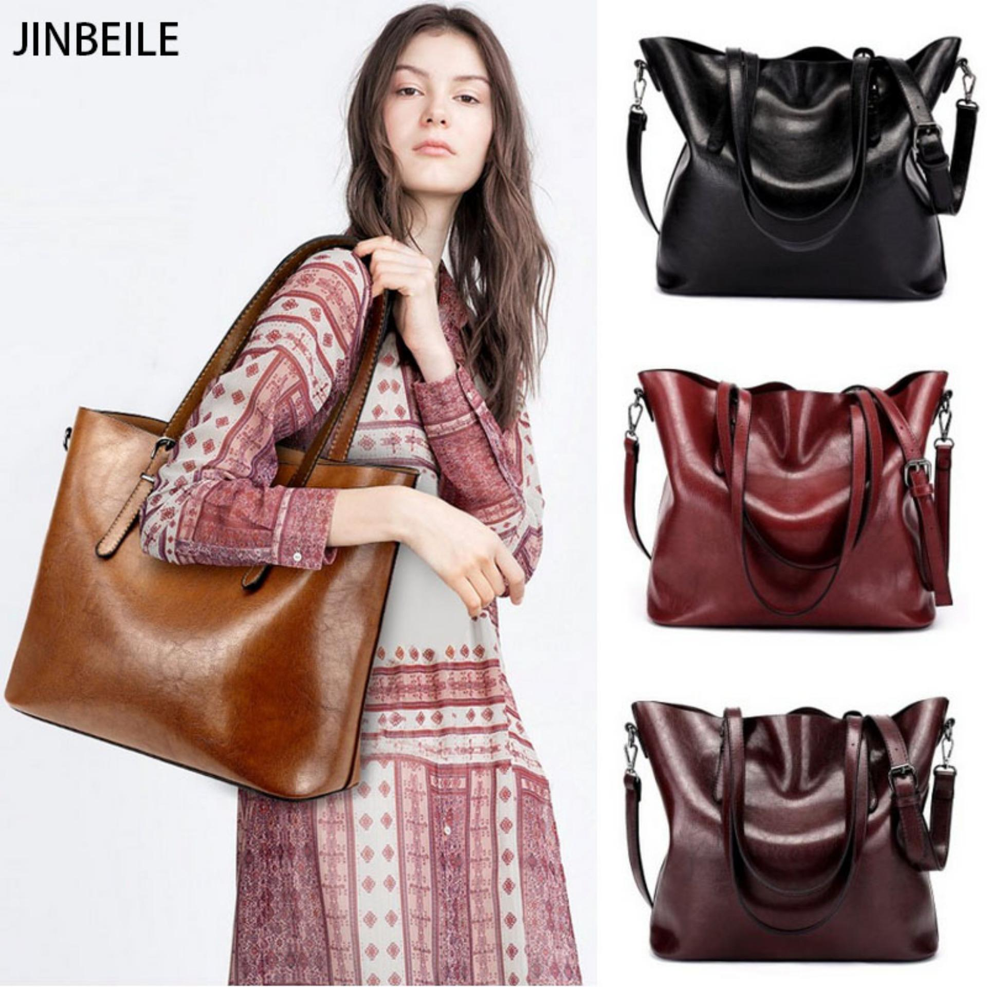 Price Fashion Women Bags Large Tote Bags Pu Leather Ladies High Quality Shoulder Bag Brown Intl China