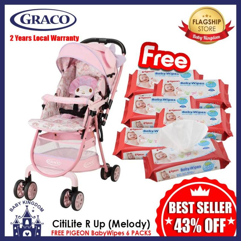 Graco CitiLite R Up Stroller Limited Edition (Melody) - Local Warranty FREE Pigeon Wipes 6 Packs Singapore