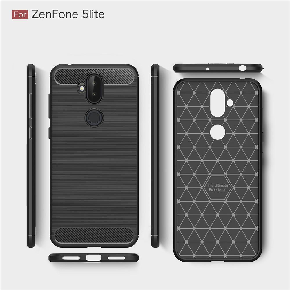 ... Lenuo Karbon Serat Silikon Gosok Anti Benturan Ponsel Sampul Belakang TPU Lembut Case Anda Asus ZenFone