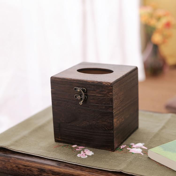 Sale Solid Wood Square Tissue Box Online China
