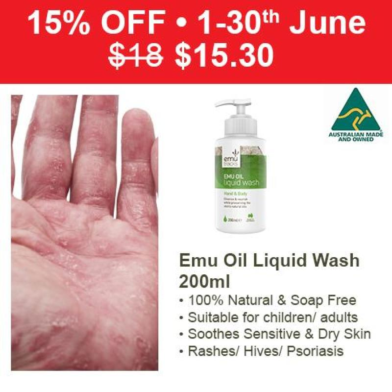 Buy Emu Tracks Emu Oil Liquid Hand & Body Wash 200ml Singapore