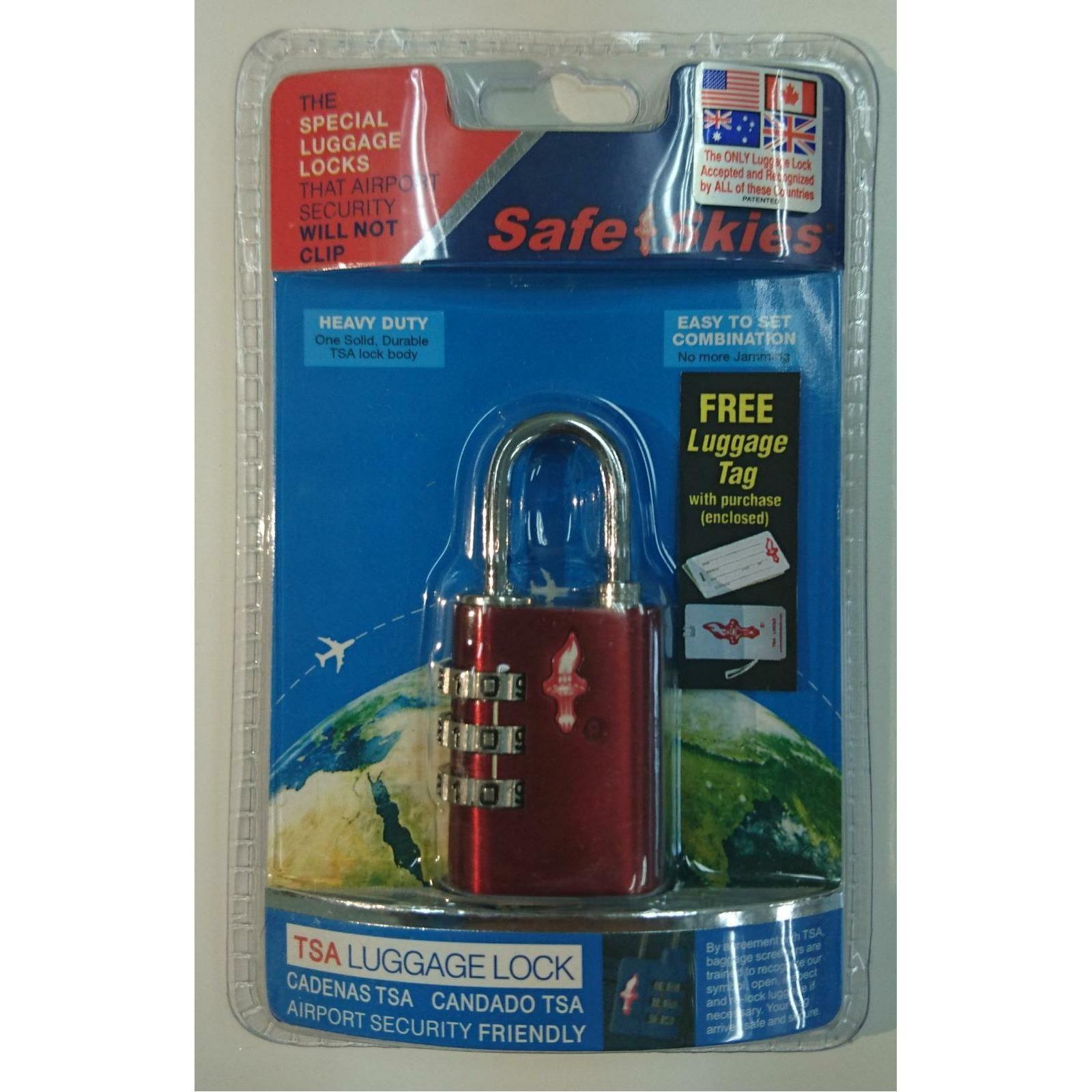 45fa733a7760 Safe Skies Metallic 3 Dial TSA Lock (Metallic Pink)