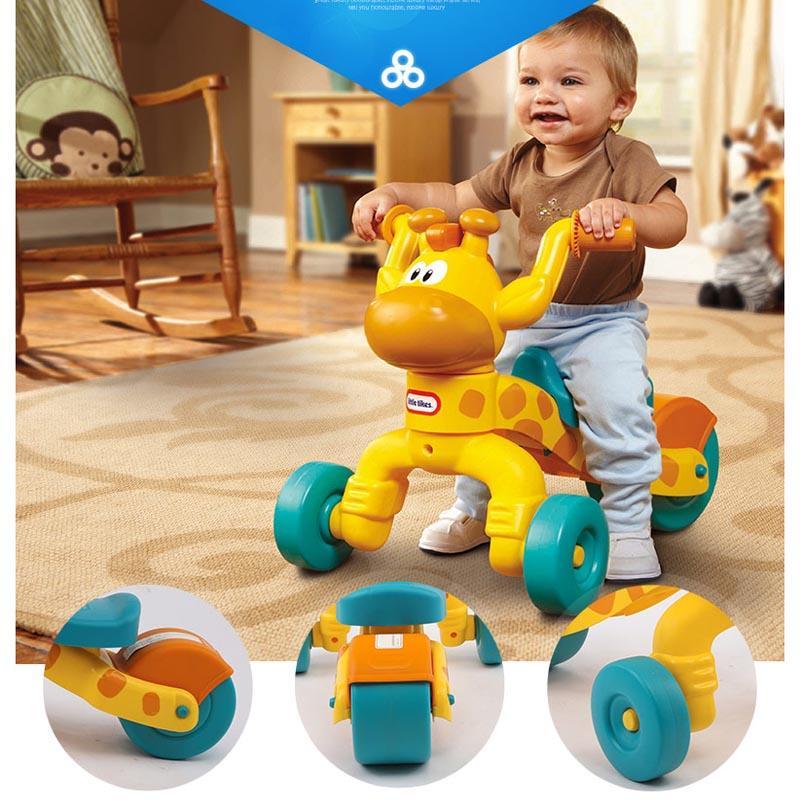 Kecil Tike Plastik Jerapah Anak-anak Sepeda Roda Tiga Walker, Kualitas Tinggi Skuter Bayi, Sepeda Roda Tiga Anak-Intl