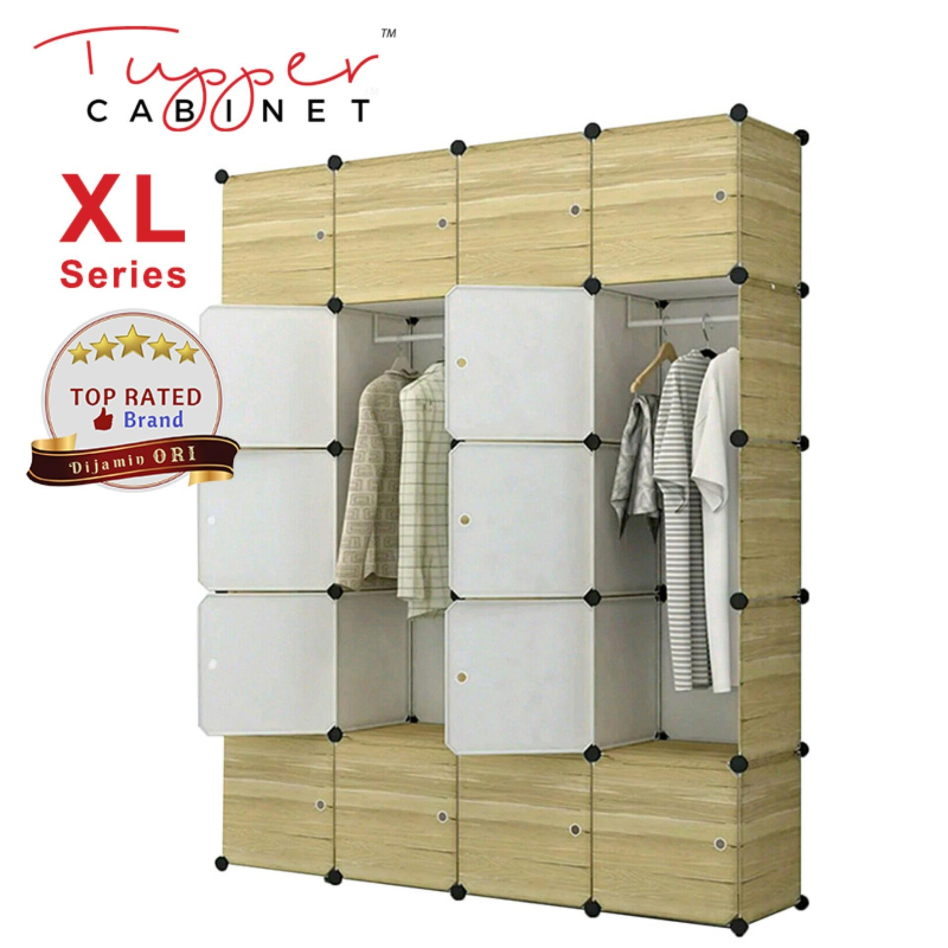 Cheaper Tupper Cabinet 20 Cubes Extra Large Deeper Cube Size Diy Wardrobe Dark Wood