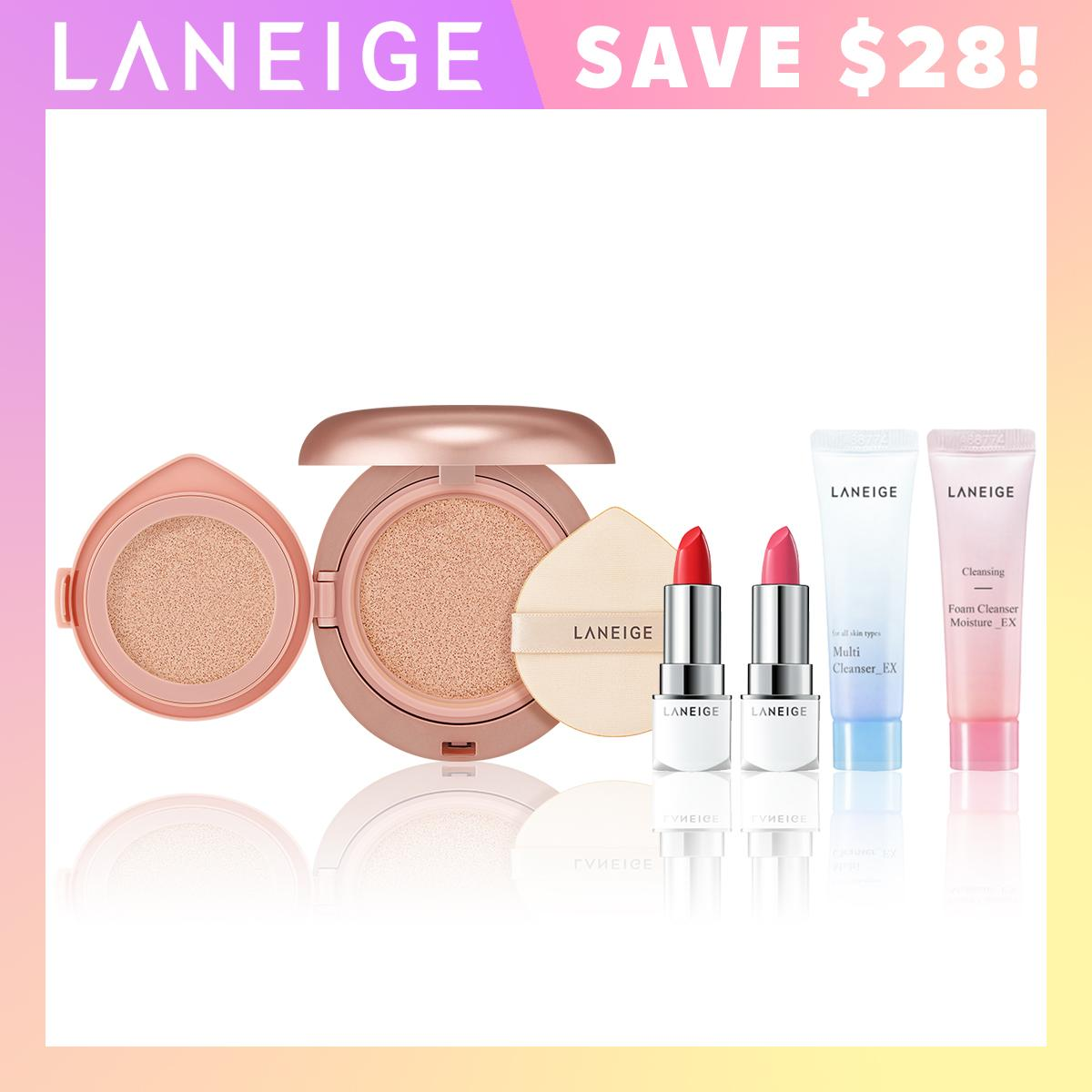 Retail Price Gss Special Laneige Layering Cover Cushion Concealing Base Select From 7 Shades