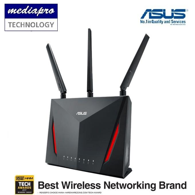 Sale Asus Rt Ac86U Ac2900 Dual Band Gigabit Wi Fi Router With Mu Mimo Asus Online